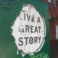 Cover for Live a Great Story: Selected Writings From Creative Nonfiction (Fall 2018)